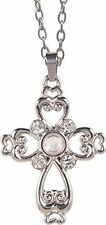 """The Lord's Prayer HEART CROSS Magnifier Pendant on 20"""" Chain, by AngelStar 13852"""