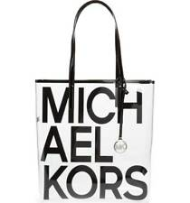 NWT Michael Kors Large North South Transparent Tote Clear/Black - SEALED PACKAGE