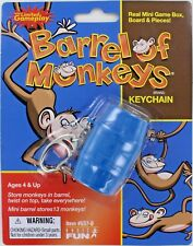 BARREL OF MONKEYS Game Keychain Keyring Miniature Mini Game Basic Fun Doll NEW