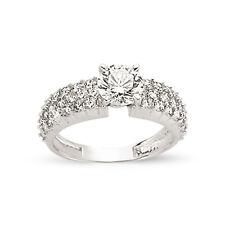 9CT GOLD LADIES CUBIC ZIRCONIA CZ BOMBAY ETERNITY BAND ENGAGEMENT WEDDING RING