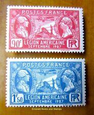 EBS France 1927 American Legion - Légion Américaine YT 244-245 MH* cv $9