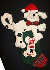"Good Dog Plush Felt Stocking JC Penney Stuffed Animal Christmas 23"" Poseable"