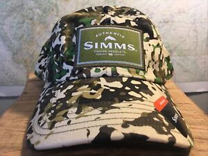 Simms Fishing Products Single Haul River Camo Low Crown Cap
