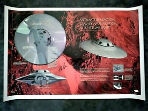 "Bob Lazar Signed Area 51 ""Sport Model"" UFO Poster Print 24 x 36  JSA COA  Lot 1"