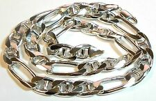 """925 Sterling Silver- Figarucci Links 22.5"""" Length - 93.1 Grams # I-2557 # 5"""