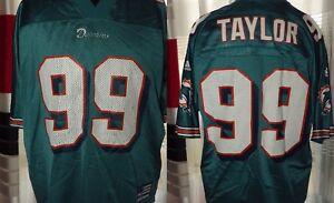 1997 Miami Dolphins - Taylor #99 Adidas NFL (M) Shirt Jersey Trikot Maglia
