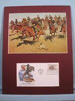 """""""On the Southern Plains"""" painted by Frederic Remington & First Day Cover"""