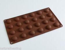 24 Semi Esfera trufa De Chocolate De Jelly Hemisferio cúpula Silicona Molde Molde