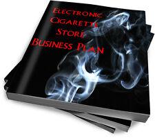 Electronic Vape Shop Vapor Supplies Start Up Sample Business Plan  NEW!