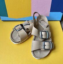 Zara Baby Boy Leather Sandals Beige Size 9.5 (26 EUR)
