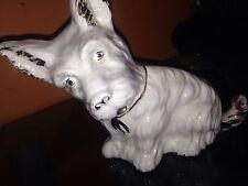 Vintage Antique Ceramic Pottery Long Haired Terrier Dog Figurine Figure