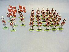 Soldats plats d'étain - Flat tin - 33 soldats armée danoise premier empire