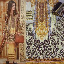 Pakistani Indian Unstitched embroidered Linen Shalwar Kameez