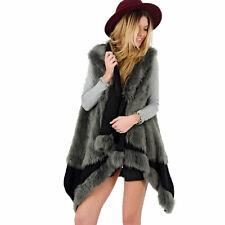 Women Faux Fur Jacket Coat Body Warmer Outwear Sleeveless Vest Waistcoat Gilet