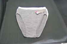 NOUVELLE SEAMLESS INTIMATES 1 WHITE, 1 NAVY 1 GREY= 3  HI-CUT BRIEF  PANTIES L