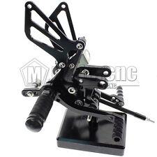 CNC Black Footpeg Rearsets Footrest Pedal For SUZUKI SV650/SV650S SV1000/S 98-14
