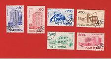 Romania  VF used CTO   Airmail Buildings