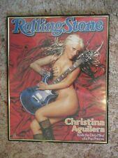 Funky Enterprises Inc Rolling Stones Christina Aguilera Framed Poster 3713