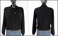 BITTE KAI RAND Copenhagen Women's Full Zip Long Sleeve Black Blazer Jacket M
