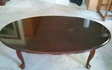 Coffee Table Queen Anne Cherry Finish Wood