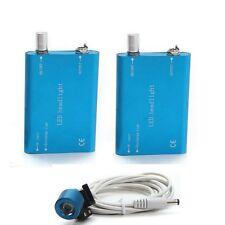 Bule Dental LED Head Lamp Light for Surgical Medical Binocular Loupe 2 batteries