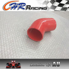 """Brand New Silicone 45 degree Elbow 76mm 3"""" inch Turbo Intercooler hose pipe RED"""
