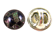 "DICHROIC GLASS TIE TACK Flair Formal Wear Brown Olive Bronze Black 1/4"" 8mm Dot"