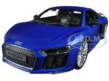AUDI R8 V10 PLUS BLUE 1/18 DIECAST MODEL CAR BY MAISTO 36213