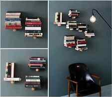 New Floating wall shelf Modern Book Office Home Organizer Decor 10~20books