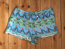 River Island Señoras Pantalones Cortos de impresión brillantes/Pantalones Cortos-medio W32