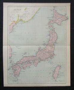 Vintage Map: Japan by John Bartholomew, Chambers's Encyclopedia, 1935