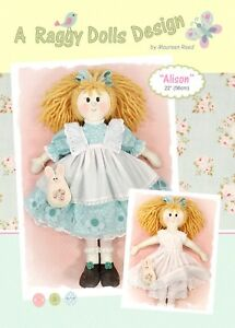 ALISON - Rag Doll Sewing Craft PATTERN - Shabby Chic