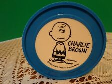 Vintage Charlie Brown 1952 Thermos Blue Insulated Jar Trinket Holder Cute