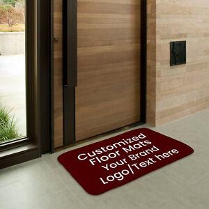 Custom Indoor Floor Mat Non Slip Entrance Doormats Home Office Area Rug Carpet