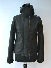 SUPERDRY Windcheater Jacket Black Sz Small Womens - Superwarm Hooded LS Zipper