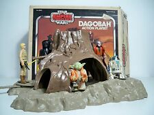 D1016222 DAGOBAH SET W/ FIGURES MINTY WITH BOX 1977 STAR WARS INSTRUCTIONS