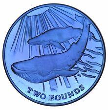 2013 South Georgia & Sandwich Islands Blue Whale Titanium Coin w/box & COA