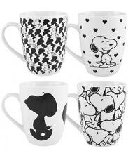 Snoopy Tazza 4 Set Peanuts Tazza caffè Coppa Boccale 4 Tazze Set nero/bianco