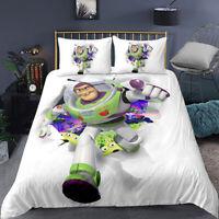 Disney Toy Story Sherif Woody Buzz Lightyear Bedding Set Quilt Duvet Covers Pill