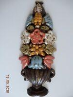 Thun-Bozen, rare großes Keramikblumengebinde als Deko für die Wand ca. H45x20cm