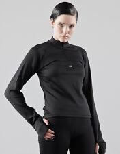 NEW BALANCE black TOP HALF ZIP jersey maglia maglietta tecnica donna M (S) BNWT