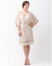 NEW LANE BRYANT $305 TWIST FRONT FOILED KIMONO DRESS BY ABS ALLEN SCHWARTZ SZ 2X