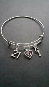 21st Birthday Charm Bracelet  + Gift Box