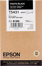 New Genuine Epson T5431 Photo Black Ink Tank Epson Stylus Pro 4000