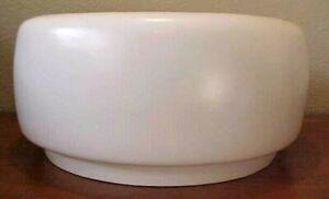 "Large John Follis ""Tire"" White Glaze Planter for Architectural Pottery 21"" x 10"""