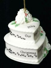 Lenox 2014 Our First Christmas Together Holiday Tree Ornament Wedding Cake Exc