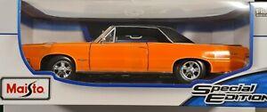 Maisto 1:18 1965 Pontiac GTO Diecast Special Edition Orange