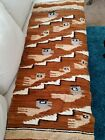 """Vintage Hand Woven Rug/ Wall Hanging In A Bird Motif, 56"""" x 22"""""""