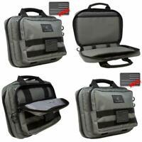 Gun Case Double Pistol Handgun Discreet Bag Shield Storage Range Grey Loops NEW-