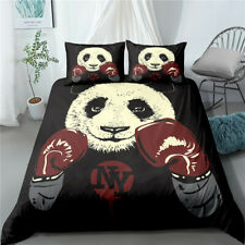 3 piece Animal panda bedding quilt cover quilt cover single double King Size UK